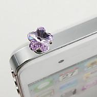legering zirkoon pruim bloesem patroon anti-stof plug (willekeurige kleuren) diy voor iphone 8 7 Samsung Galaxy S8 s7