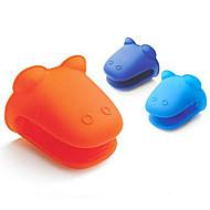 voordelige Keuken Gerei-Hippo Kikker vorm siliconen geïsoleerde handschoenen Oven Microgolf hitte willekeurige kleur