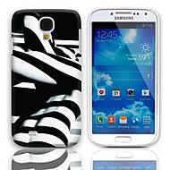 Для Кейс для  Samsung Galaxy С узором Кейс для Задняя крышка Кейс для Черный и белый PC Samsung S4 Mini