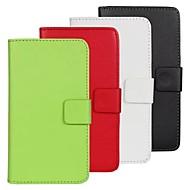 お買い得  ケース&カバー-ケース 用途 HTC HTCケース カードホルダー スタンド付き フリップ フルボディー 純色 ハード PUレザー のために