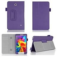 Для Кейс для  Samsung Galaxy Бумажник для карт / со стендом / Флип Кейс для Чехол Кейс для Один цвет Искусственная кожа Samsung Tab 4 8.0