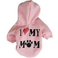 ieftine Produse de Gospodărie & Animale de Companie-Pisici Câine Hanorace cu Glugă Îmbrăcăminte Câini Literă & Număr Alb Gri Roz Terilenă Costume Pentru animale de companie