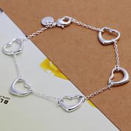 cheap -Fashion Cordate 18.5cm Women's Silver Copper Bracelets