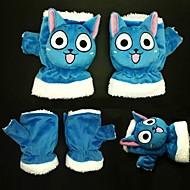 Rękawiczki Zainspirowany przez Fairy Tail Cosplay Anime Akcesoria do Cosplay Rękawiczki Modrá Polarowy Męskie / Damskie / Dziecięcy