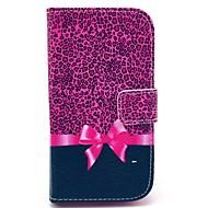 olcso Samsung tokok-Case Kompatibilitás Samsung Galaxy Samsung Galaxy tok Kártyatartó Pénztárca Állvánnyal Flip Minta Héjtok Leopárd minta PU bőr mert Core