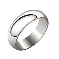 ユニセックス銀色のチタン鋼リング