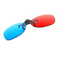 bilgisayar için 3d gözlük parça takım elbise sıkma le-vizyon kırmızı, mavi miyopi
