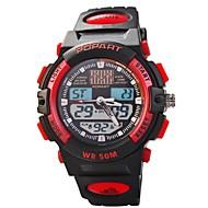 abordables Relojes Digitales-Mujer Reloj digital Cuarzo Digital 50 m Reloj Casual Cool PU Banda Analógico-Digital Casual Negro - Amarillo Rojo Azul