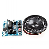 isd1820 lyd lydopptak modul w / mikrofon / høyttaler