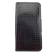 Woven Pattern of Beautiful Pattern PU Leather Full Body Case with Stand for iPhone 4/4S