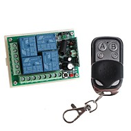12V 4-Channel Wireless Remote Power Relay Module with Remote Controller (DC28V-AC250V)