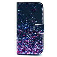 cheap -Case For iPhone 5 Apple iPhone 5 Case Card Holder Wallet with Stand Flip Pattern Full Body Cases Color Gradient Hard PU Leather for