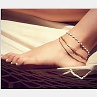 cheap -Anklet - Pearl, Imitation Pearl Unique Design, European, Fashion Gold For Christmas Gifts / Party / Daily