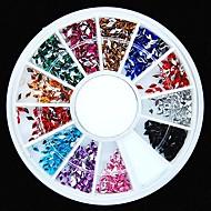 600pcs 12colours rombusz alakú akril strassz kerék Nail Art dekoráció