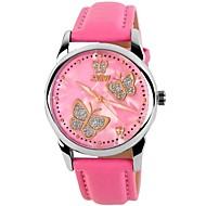 SKMEI Жен. Модные часы Кварцевый Японский кварц Кожа Группа Бабочка Черный Белый Синий Красный Розовый
