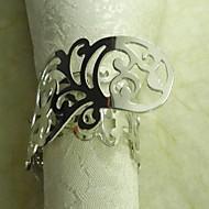 Επίστρωση Metal Flower Ring χαρτοπετσέτας, Metal, 3,5 εκατοστά, Σετ 12