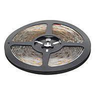 Waterproof luz branca quente 5M 24W 60x3528SMD 900-1200LM 3000-3500K LED Strip Light (DC12V)