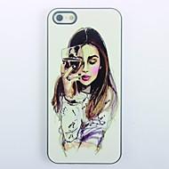 Elegant Girl Design Metal Hard Case for iPhone 5/5S\  iPhone Cases