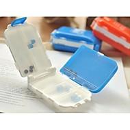 Japanese 8 Spaces Seal Folding Medicine Box Random Color
