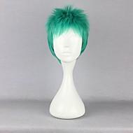 Cosplay Wigs One Piece Roronoa Zoro Green Short Anime Cosplay Wigs 30 CM Heat Resistant Fiber Male