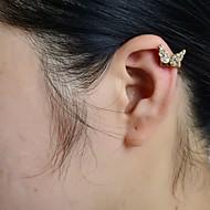 voordelige -Dames Oor manchetten Vlinder Dier Luxe Strass Gesimuleerde diamant oorbellen Sieraden Voor Bruiloft Feest Dagelijks Causaal Sport