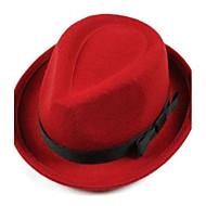 женская шерстяная шляпа-котелок