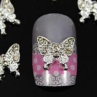 손가락 끝 네일 아트 장식 10PCS 아름다움 나비 모조 다이아몬드 보석 액세서리