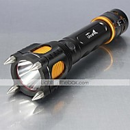 5 LED Flashlights/Torch 1000 Lumens Mode XM-L2 T6 Adjustable Focus Impact Resistant Nonslip grip Rechargeable Strike Bezel for