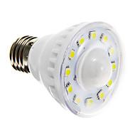2W E26/E27 LED Σποτάκια A60(A19) 12 SMD 5050 85-150 lm Θερμό Λευκό Ψυχρό Λευκό 6000-6500 κ Αισθητήρας AC 220-240 V