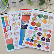 Shivering Dot Stripe DIY Scrapbooking Stickers (4PCS)