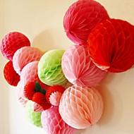 Bola de la flor de papel de tejido de nido de abeja de 8 pulgadas (más colores)