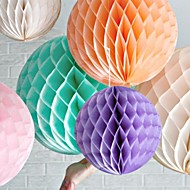 abordables Pañuelos-Bola de la flor de papel de tejido de nido de abeja de 16 pulgadas (más colores)