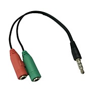 abordables Grandes Ofertas-Estéreo de 3,5 mm conector de 4 posiciones de micrófono de 3,5 mm& conector de auriculares para adaptador de audio iphone