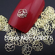 50pcs αυξήθηκε σχήμα φέτα μετάλλου διακόσμηση καρφί τέχνης