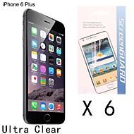 billige Skjermbeskyttere til iPhone-Skjermbeskytter Apple til iPhone 6s Plus / 6 Plus iPhone 6s iPhone 6 PET 5 stk Skjermbeskyttelse Ultratynn