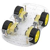 bricolaje de doble capa 4xmotor chasis del automóvil inteligente con disco de medición de la velocidad codificada
