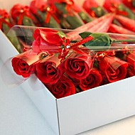 1 PCS Holiday Gifts Rose Shape Soap Flowers