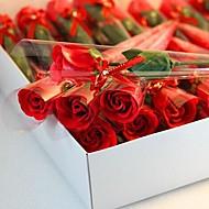 1 개 휴일 선물 모양의 비누 장미 꽃