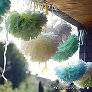 abordables Pañuelos-Decoraciones de fiesta de la flor de papel de 10 pulgadas - juego de 4 (más colores)