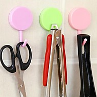 abordables Gadgets para Casa y Despacho-2 pcs precioso gancho multifunción en color caramelo redondo (color al azar)