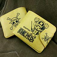 Tas / Portemonnees geinspireerd door One Piece Tony Tony Chopper Anime Cosplay Accessoires Portemonnee Geel PU Leder Mannelijk