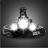Linternas de Cabeza / Luces para bicicleta / Luz Frontal para Bicicleta LED Cree T6 Ciclismo Recargable 18650.0 3000lumens Lumens Batería