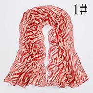 moda padrão zebra lenço das mulheres