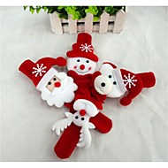 abordables Artículos para Celebración-Regalos de Navidad Juguetes de Navidad Brazalete Monigote de nieve Bonito Papá Noel Textil Niños Chico Chica Juguet Regalo 1 pcs