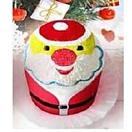 halpa Kylpyhuonetarvikkeet-syntymäpäivä lahja joulupukille muoto kuitu luova pyyhe (random väri)