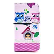 voordelige Hoesjes&covers-coco fun® mooie owl familie patroon pu lederen tas met film en stylus voor de Sony Xperia z1 mini compact d5503