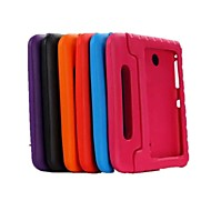 Недорогие Чехлы и кейсы для Samsung Tab-Кейс для Назначение SSamsung Galaxy Кейс для  Samsung Galaxy Защита от удара со стендом Безопасно для детей Задняя крышка Сплошной цвет PC