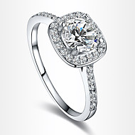 Women's Statement Rings Engagement Ring Love European Bridal Costume Jewelry Zircon Cubic Zirconia Silver Plated Gold Plated Imitation