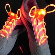 abordables Cordones-cordones de zapato deportivo led cordones de zapatos luminosos redondos cordones de luz cordones de zapatos luminosos