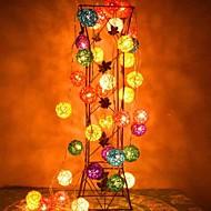 jiawen® 4m 20leds RGB LED rotan bal Lichtslinger kerst snaar licht voor decoratie (AC 110-220V)